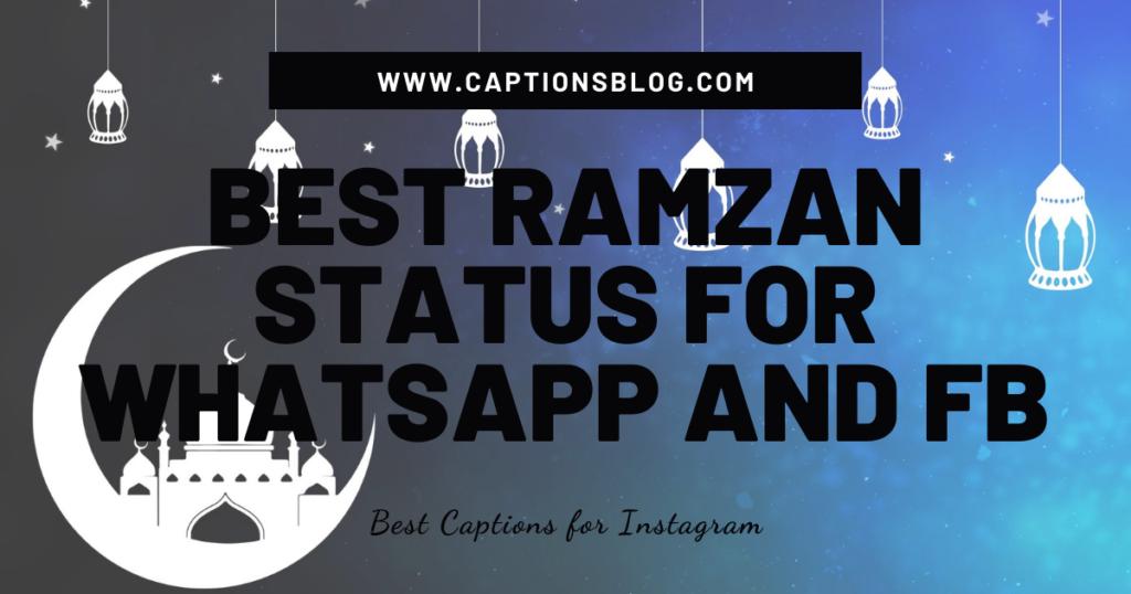 Best Ramzan Status for Whatsapp and FB