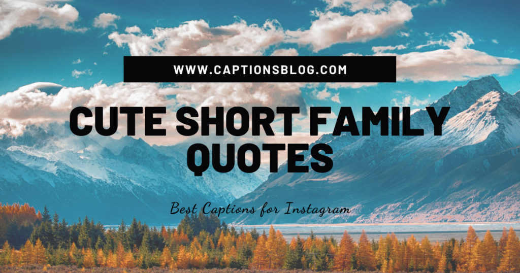 CUTE SHORT FAMILY QUOTES