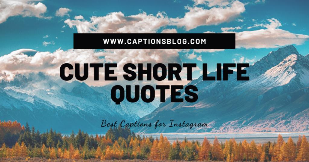 CUTE SHORT LIFE QUOTES