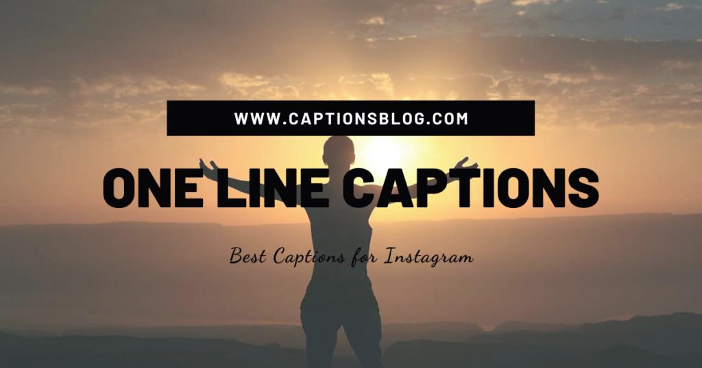 One Line Captions