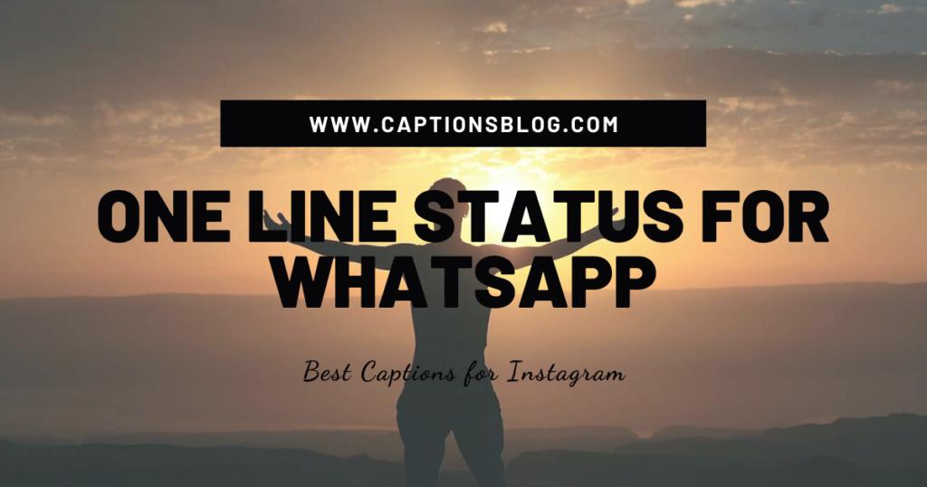 One Line Status for Whatsapp
