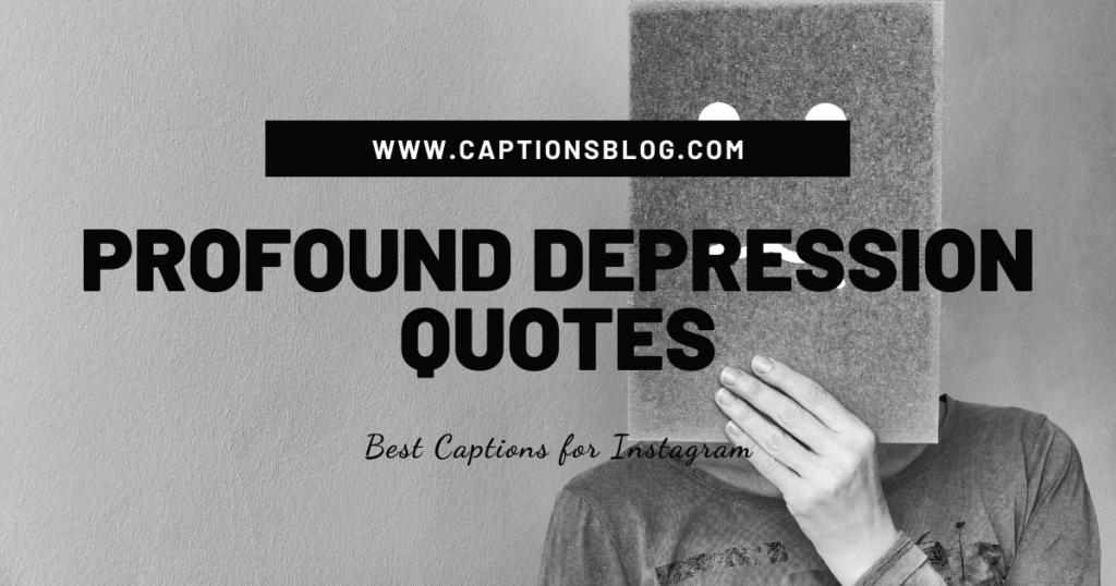 Profound depression quotes