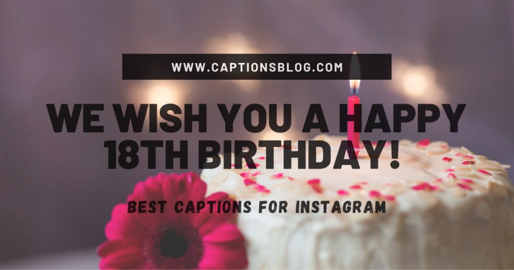 We wish you a Happy 18th Birthday!