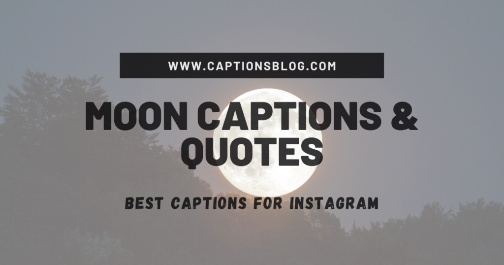Moon Captions & Quotes